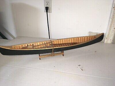 "Vintage Peterborough Green 26.75"" Wooden Handmade Row Boat Display Scale Model"