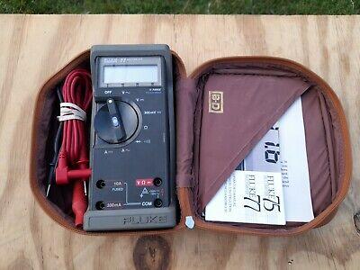 Fluke 77 Digital Multimeter Older Ver. Leads Holster Manual Leather Case