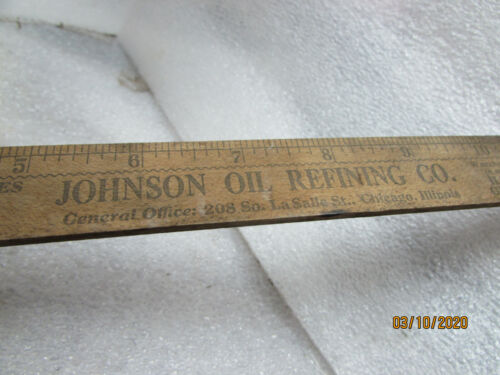 Vintage Nice Graphics Advertising Johnson Refining Chicago Il Ford Gas gauge CB5