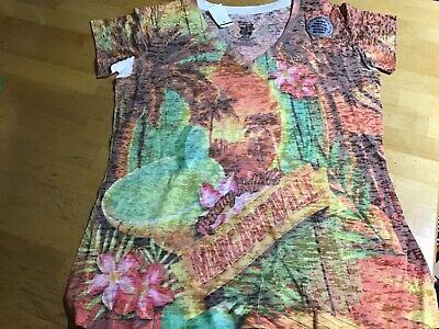 Margaritaville Unique Women's Jimmy Buffet Multi-Colored TIE  Dye V-Neck-NWT $35 Women Tie Dye