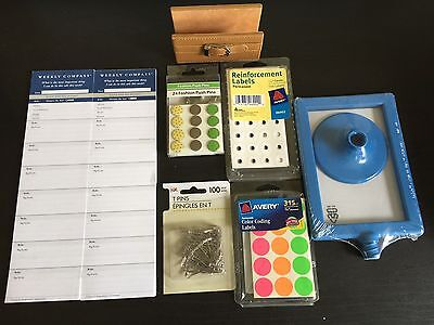 Office Supplies Lot 8 Pc Franklin Covey Card Holder Pins Pic Frame Labels Pt-4.7