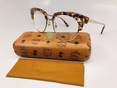 MCM Eyeglasses MCM2106 663 Pink Marble & Gold Eyeglasses 52mm with Case & Cloth