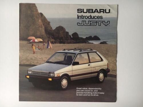 1987 Subaru Justy Original Brochure Catalog VGC
