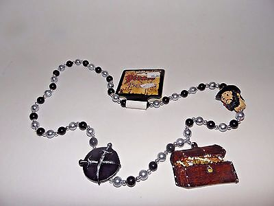 Pirate Bead Treasure Chest Necklace Costume Accessory Cosplay Halloween Theater