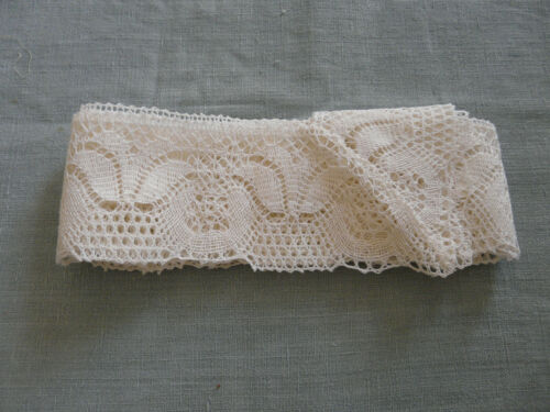 French Antique Edging For Tablecloth Bobbin Lace Linen Vintage Le Puy en Velay