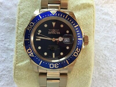 Used Mens Genuine Invicta 9312 Pro Diver In Gold