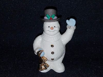 Lenox HOLIDAY GREETINGS SNOWMAN HOLDING BELLS (Figurine)