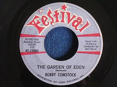 Bobby Comstock/Just a Piece of Paper-The Garden of Eden/Festival 45-25000/VG+/EX - The Piece Of Eden