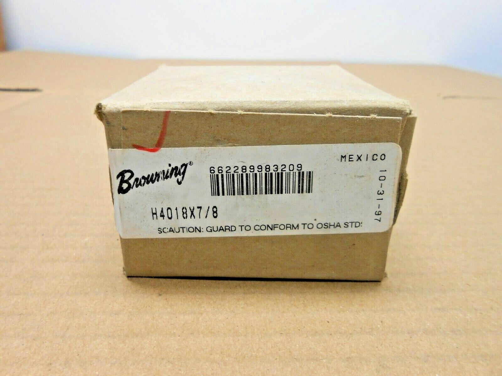 NIB BROWNING H4018 X 7/8 H4018X78 FINISHED BORE SPROCKET 7/8 18 TEETH 2 AVAIL  - $16.50