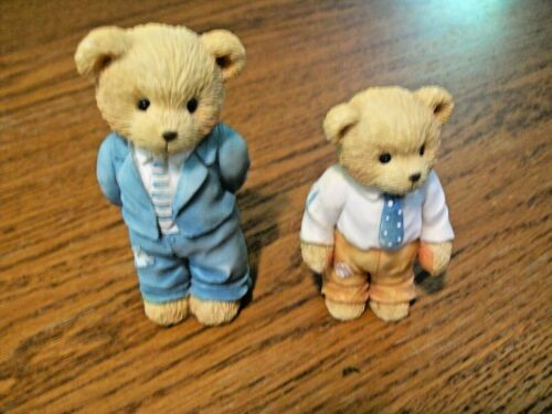 1993 Cherished Teddies Father and Son Strength and Pride All Dressed Up