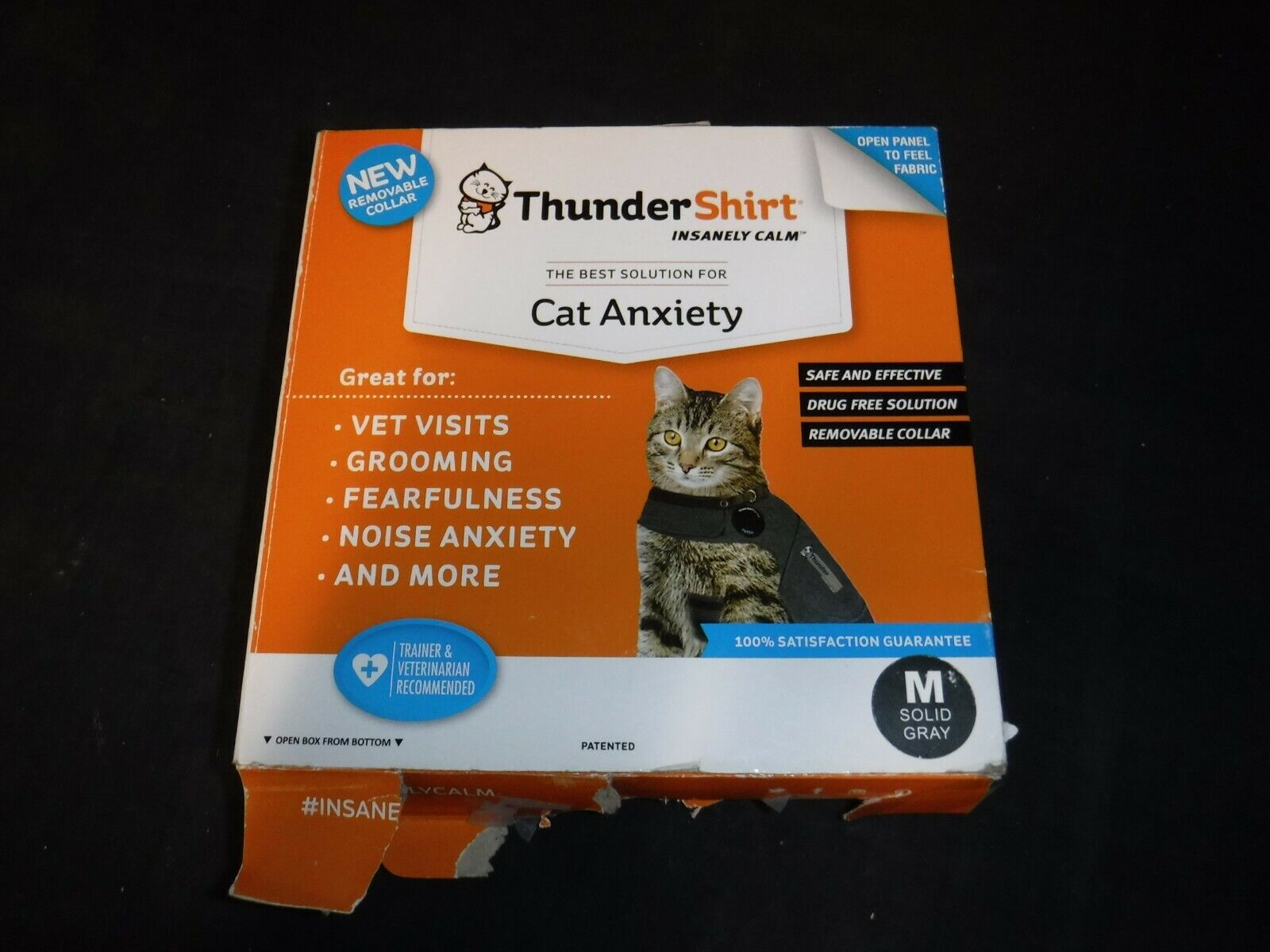Thundershirt T02-HGM for Cat Anxiety Gray Size: ...