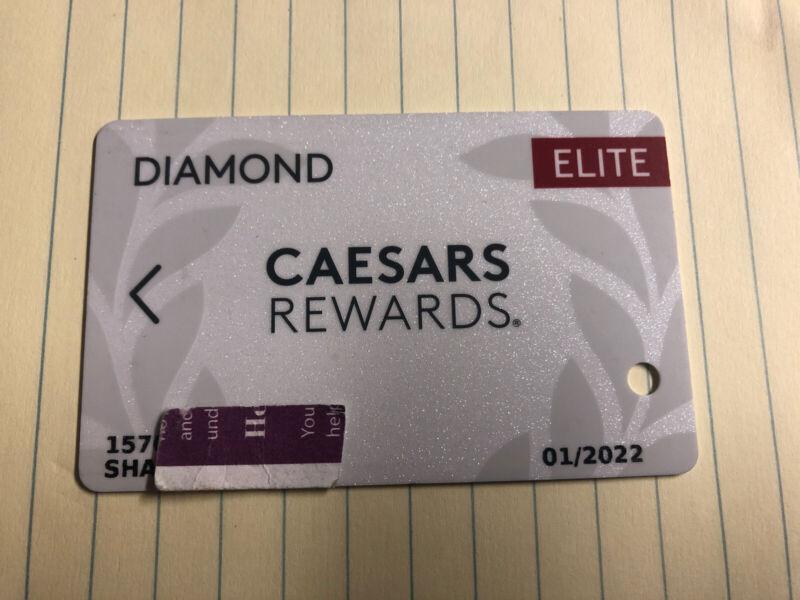 DIAMOND ELITE level Caesars Rewards Card Expires 01/2022 Prefix 157