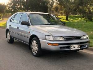 1997 Toyota Corolla Hatch Manual 297K Service Books Only $1550 Torrensville West Torrens Area Preview