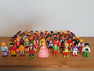 10 Random Playmobil Children Figures. School, Park, Dolls House City Life Extras