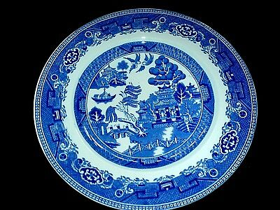ALFRED MEAKIN Old Willow Blue/ White 9 3/4 inch Plate x1 c1930 ( 4 available)