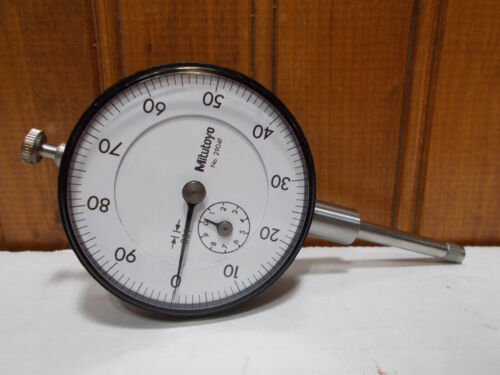 """MITUTOYO 2904 F Dial Indicator 1"""" travel .001"""" machinist inspection smooth"""
