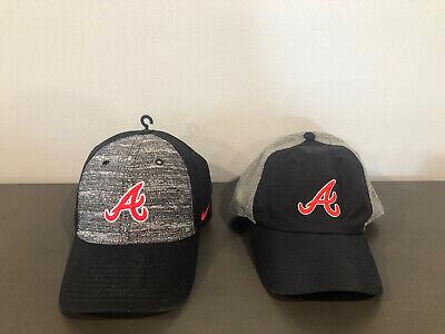 2 Nike Atlanta Braves Hats,  MLB, Strapback, Rare!