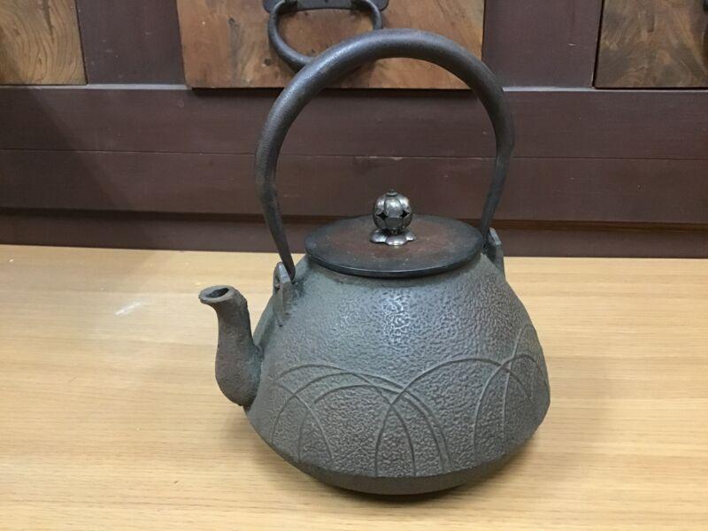 Y0691 TETSUBIN Musashino pattern autumn grass Japanese Iron Tea Kettle Teapot