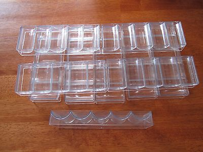 10 NEW Clear Poker Chip Trays/Racks