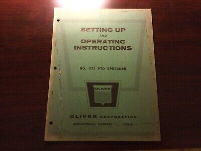 Oliver 471 Manure Spreader Operators Manual