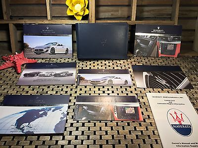 2013 MASERATI GRANTURISMO CONVERTIBLE MC OWNERS MANUAL + NAVIGATION MANUAL (OeM)