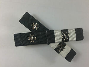Ribbon Bars, Order of St. John, Long Service Medal + 2 Rosettes