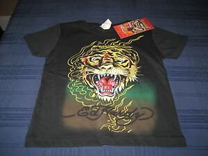 BOYS KIDS ED HARDY SHORT SLEEVE T SHIRT BLACK SIZE 2/3  NWT  FREE S/H