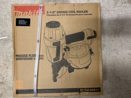 MAKITA - AN611 1‑1/4 In. to 2‑1/2 In. Coil 15 Degree Siding Nailer