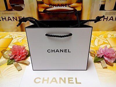 Mini Paper Bags (☾1 PCS☽CHANEL Mini-Size☾L:14 x W:5 x H:12 cm☽White Paper Gift Bag☾H /28% OUT!!☽)