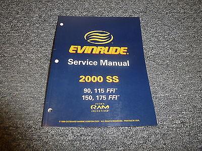 2000 Evinrude 90 115 150 175 HP FFI Outboard Motor Shop Service Repair Manual SS