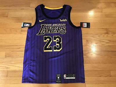 Lebron James  23 City Edition Nike Lakers Swingman Jersey Men s Large (48)  NWT f9a62424b