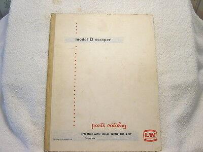 Letourneau Westinghouse Lw Model D Scraper 1960 Parts Catalog