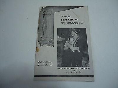 Hanna Theatre Cleveland 1959 Program Imogene Coca Girls in 509, Vintage Ads