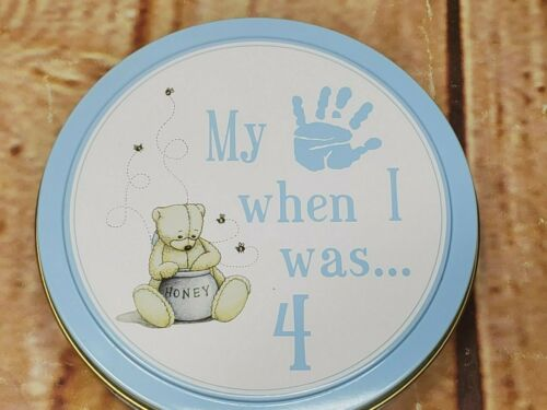 Child to Cherish Tower of Time When I Was 4 Blue Hand/Foot Print Kit