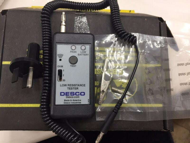 DESCO 19249/19245, Low Resistance Tester, 0°-40° C, 2.5 Volt, BRAND-NEW