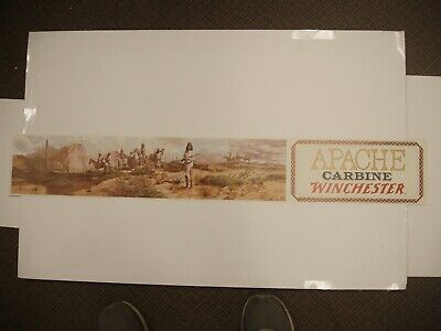 VINTAGE Original Winchester apache carbine Paper Poster Advertising Sign # 1