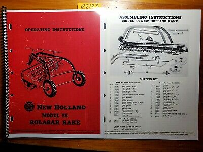 New Holland 55 Rolabar Rake Owners Operators Manual 456 Assembly 256