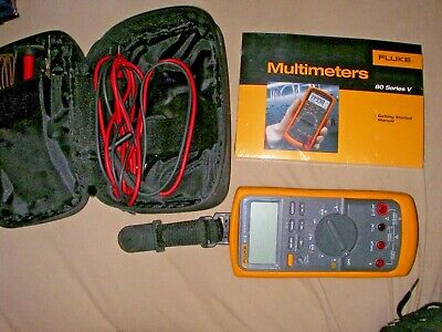 Fluke Industrial Digital Multimeter Series 87v 87-v Tru Rms Combo Kit Cat 3 4