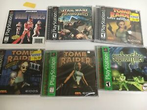 PS1 various gAmes tomb raider star wars