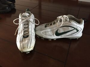 Nike leather cleats.