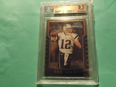 2000 Bowman Chrome Tom Brady  Bgs 9 5  Patriots  With Two 10 Subs  Reduced Price
