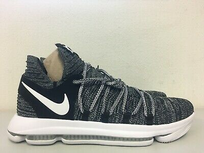 cheap for discount 796a4 7cdd8 Nike Zoom KD10 Black White Oreo Finger Print 897815-001 Mens Size 14
