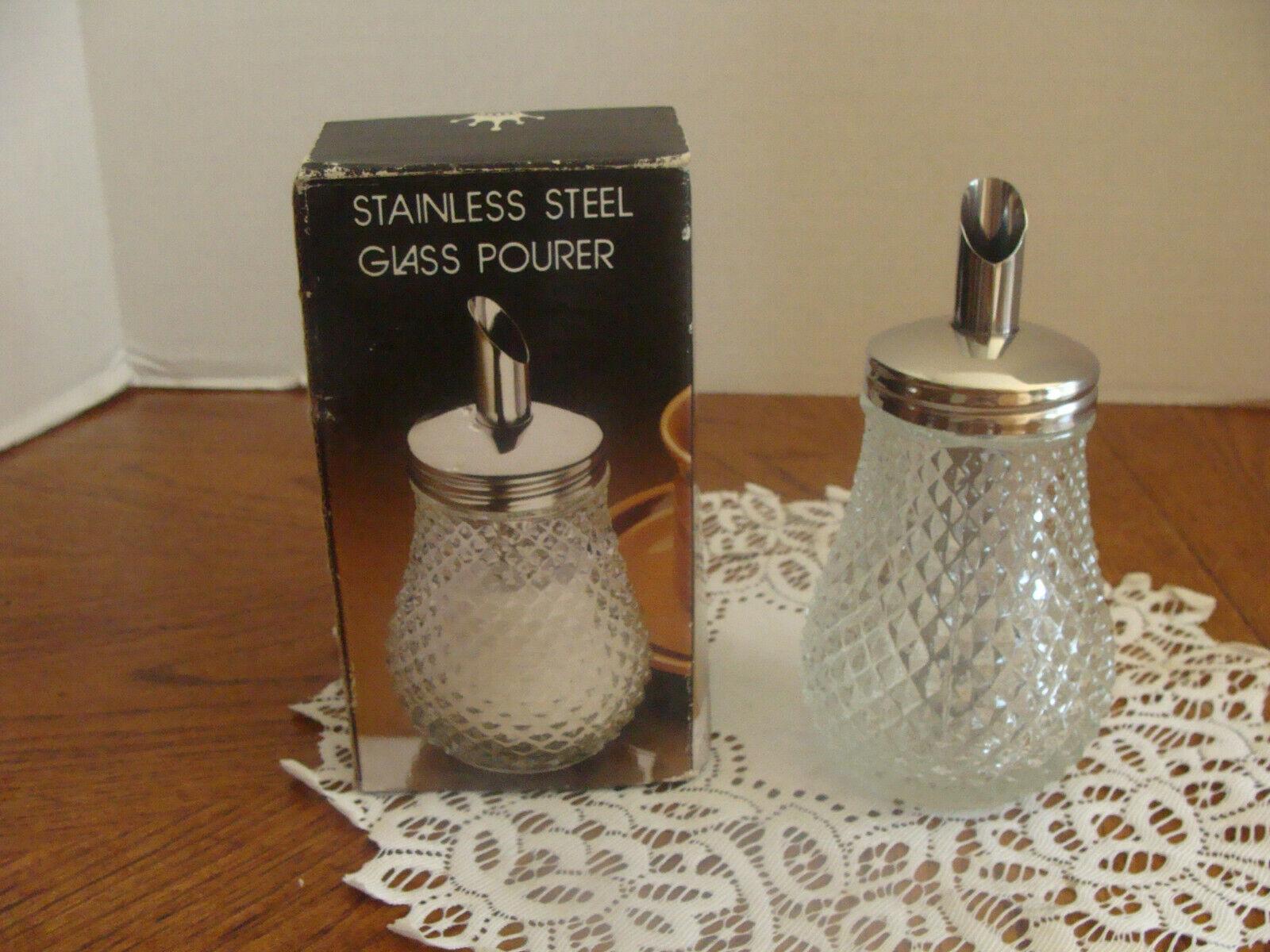 Vintage Grace Diamond Point Pattern Sugar Dispenser-NOS - IOB - $4.99