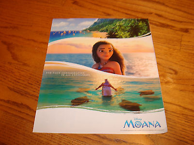 MOANA 2016 Oscar ad Disney for Best Animated Film & THE SECRETS LIFE OF PETS
