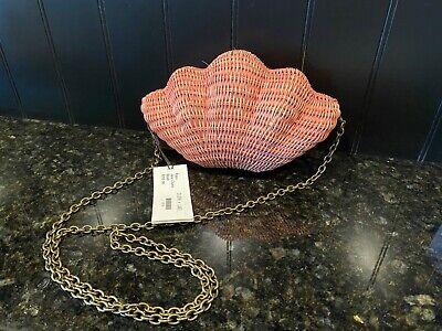 Kayu Jane Rattan Shell Clutch Bag