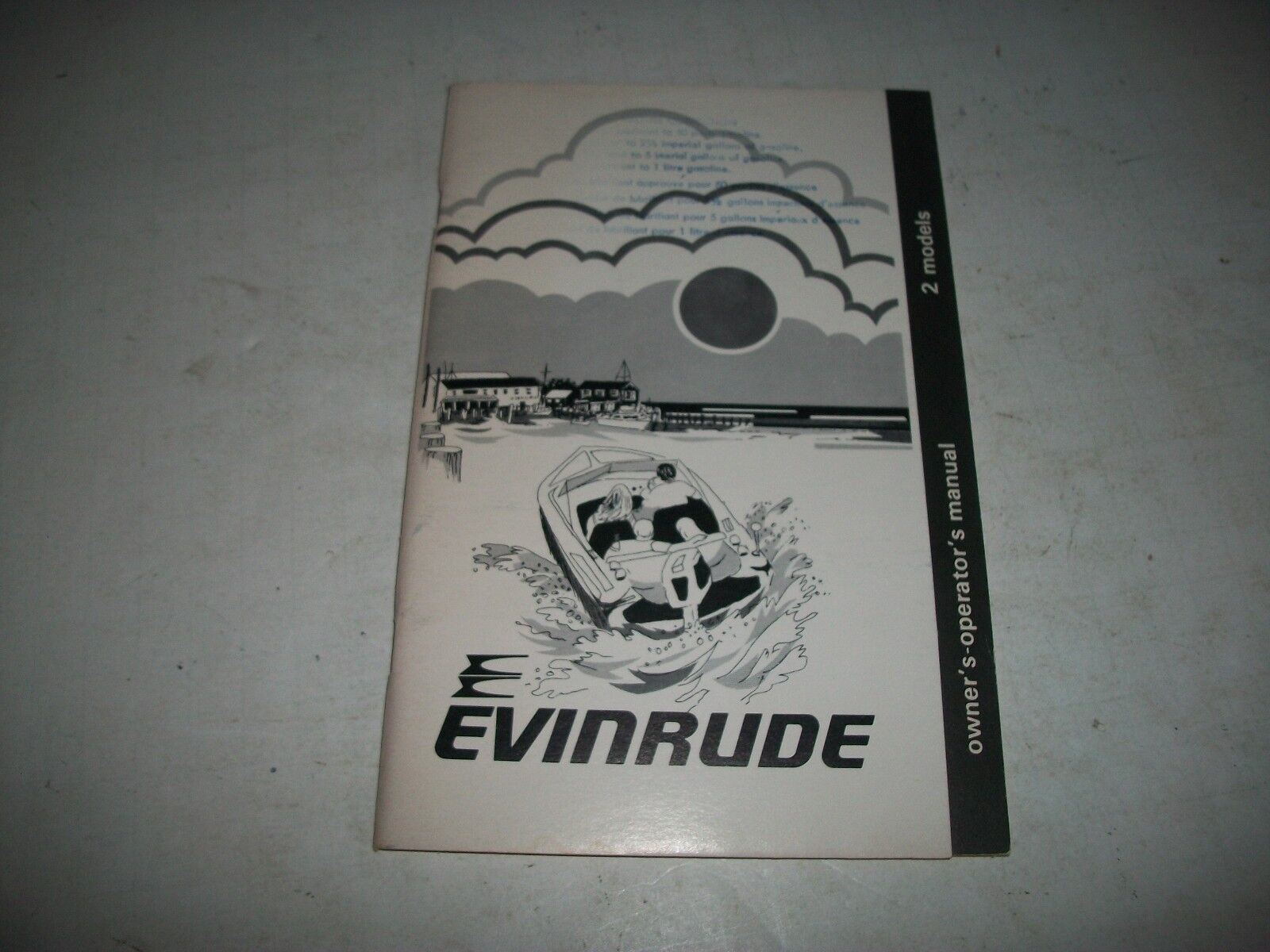 1981 EVINRUDE /  JOHNSON 2 HP MODELS OUTBOARD OWNERS MANUAL