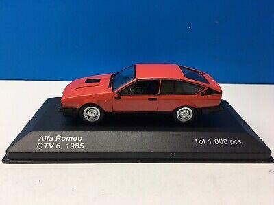 Alfa Romeo GTV6 2.5 1985 Whitebox 1:43 WB154 Rojo Red Gtv 6