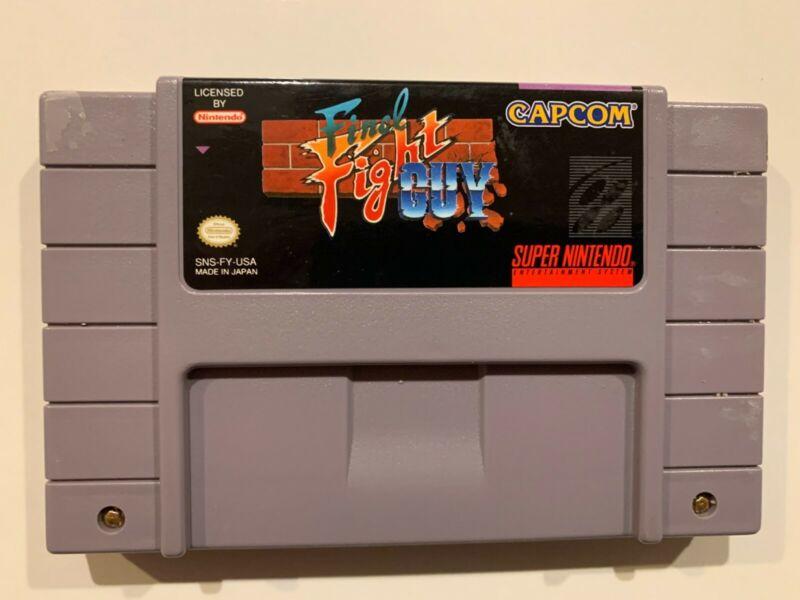 Final Fight Guy SNES vintage super nintendo / Cartridge Only RARE! Tested Works