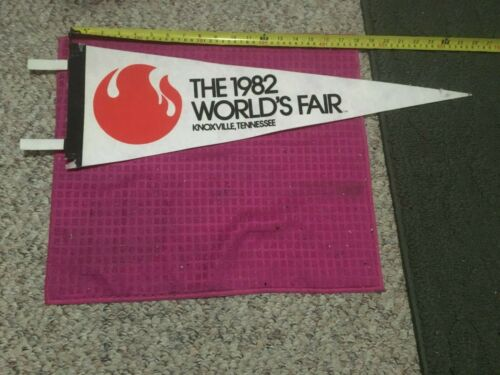 VINTAGE 1982 World's Fair Knoxville Tennessee TN Pennant Banner Flag -SHIP FAST