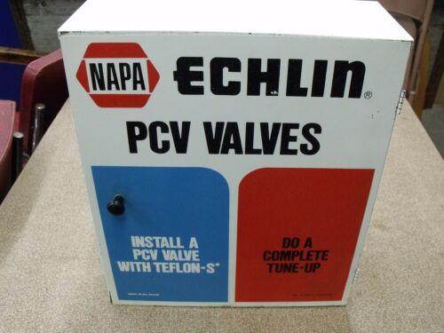 Vintage NAPA ECHLIN PCV VALVE Garage Shop Auto Repair Part Storage Metal Cabinet